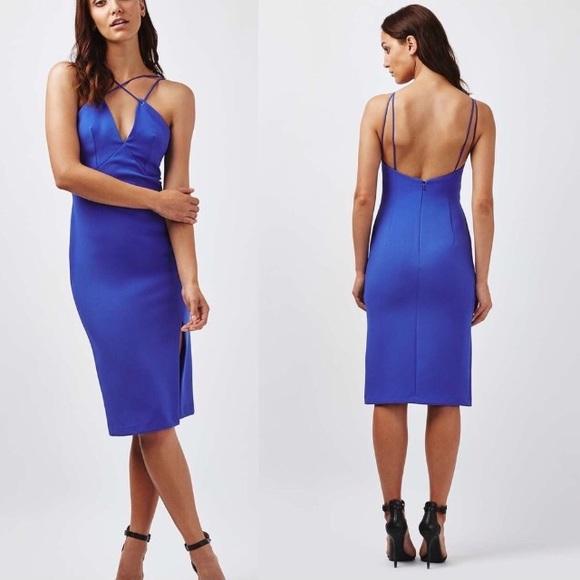 0cc44b5095c6 Topshop Dresses | Eyelet Plunge Midi Dress Fits 6 | Poshmark